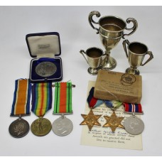 Cusa Family Father & Son WW1 and WW2 Medal Group