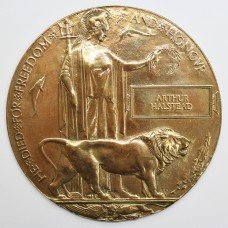WW1 Memorial Plaque (Death Penny) - Arthur Halstead