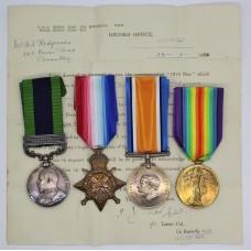 India General Service Medal (Clasp - North West Frontier 1908) - Pte. P. Redgrave, Royal Warwickshire Regiment