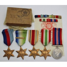 WW2 Atlantic Star Medal Group in Box of Issue - Lieut. W.H. Hutchinson, Royal Naval Volunteer Reserve