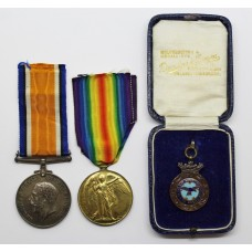 WW1 British War & Victory Medal Pair with Air Ministry Athlet