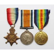 WW1 1914-15 Star, British War & Victory Medal Trio - Pte. J.W.R. Richardson, 21st (4th Public School) Bn. Royal Fusiliers