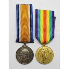 WW1 British War & Victory Medal Pair - Pte. S. Houseley, Machine Gun Corps