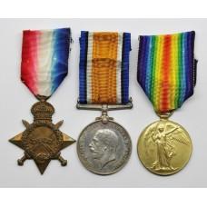 WW1 1914-15 Star, British War & Victory Medal Trio - Pte. T. Sutcliffe, 19th (2nd Public School) Bn. Royal Fusiliers