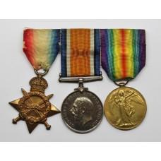 WW1 1914-15 Star, British War & Victory Medal Trio - Pte. M.H. Fox, 16th (Public Schools) Bn. Middlesex Regiment