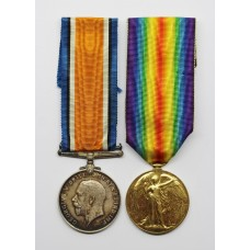 WW1 Prisoner of War British War & Victory Medal Pair - Pte. D.J. York, Machine Gun Corps - Wounded