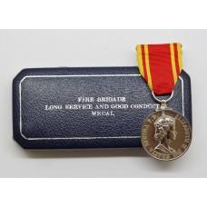 ERII Fire Brigade Long Service & Good Conduct Medal - Fireman Dennis Barker