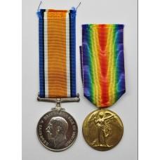 WW1 British War & Victory Medal Pair - Gnr A.C. Croft, Royal Artillery