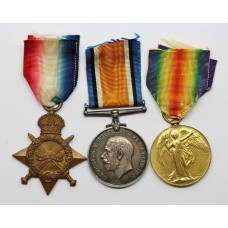 WW1 1914-15 Star Medal Trio - Pte. F.S. Revell, Army Service Corps
