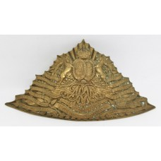 Edwardian 9th (Queen's Royal) Lancers Czapka Plate