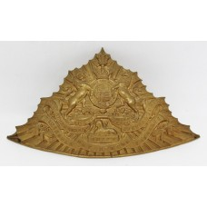 Victorian 12th (Prince of Wales Royal) Lancers Czapka Cap Plate