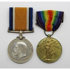 WW1 British War & Victory Medal Pair - Captain N.D. Thompson, 5th Bn. Lancashire Fusiliers