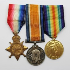 WW1 1914-15 Star, British War & Victory Medal Trio - Lieut. V.O. Jones, Royal Field Artillery