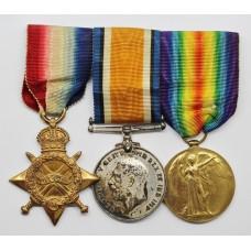 WW1 1914-15 Star, British War & Victory Medal Trio - Cpl. A.E