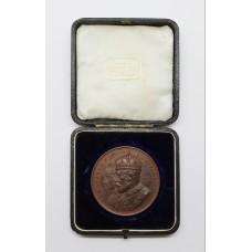 Large Bronze 1911 King George V & Queen Mary Coronation Medallion
