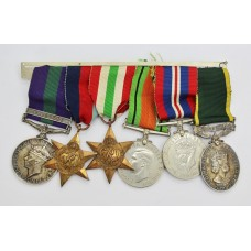 General Service Medal (Clasp - Palestine), WW2 and Territorial Efficiency Medal Group of Six - Pte. R. Watt, York & Lancaster Regiment & Army Catering Corps
