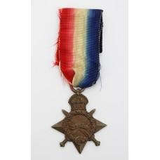 WW1 1914-15 Star - Musician R.F. Beer, Royal Marine Band