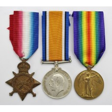 WW1 1914-15 Star Medal Trio - Sjt. J.H. Lewin, Royal Army Medical Corps