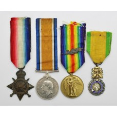 WW1 1914-15 Star Medal Trio (M.I.D.) and Medaille Militaire - Q.M. & Lieut. G. Carroll, 1/3rd E. Lancs. Fd. Amb. Royal Army Medical Corps (Gallipoli)