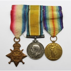 WW1 1914-15 Star, British War & Victory Medal Trio - Pte. T. Gordon, Notts & Derby Regiment (Sherwood Foresters)