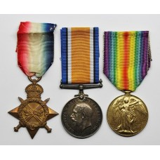 WW1 1914-15 Star, British War & Victory Medal Trio - Pte. W.H. McLonghlin, 22nd (Kensington) Bn. Royal Fusiliers