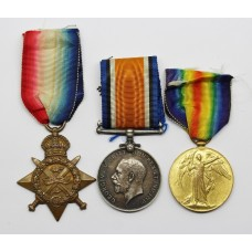 WW1 1914 Mons Star Medal Trio - Gnr, W. Appleton, Royal Garrison Artillery