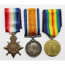 WW1 1914-15 Star Medal Trio - Pte. J. May, 14th Bn. Canadian Infantry
