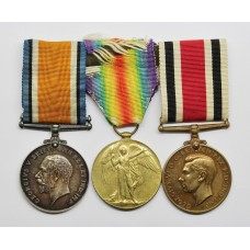 WW1 British War Medal, Victory Medal & Special Constabulary Long Service Medal Group - Pte. T. Longhurst, Machine Gun Corps
