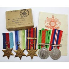 WW2 Royal Naval Medal Group in Box of Issue - Unattributed