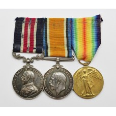 WW1 Military Medal, British War Medal & Victory Medal - Gnr.