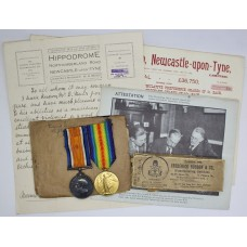 WW1 British War & Victory Medal Pair - Cpl. D. Muir, Lincolnshire Regiment