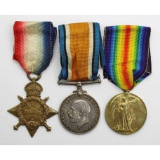 WW1 1914-15 Star Medal Trio - Pte. W. Middlebrooke, Notts & Derby Regiment (Sherwood Foresters)