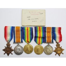 WW1 Casualty Medal Group to Clark Brothers - Lincolnshire Regimen