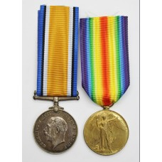 WW1 British War & Victory Medal Pair - Pte. J. Gargon, Royal Irish Fusiliers (Later Royal Flying Corps) - Wounded