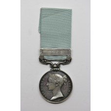 Army of India Medal (Clasp - Ava) - Lieut. W. Rutherford, 28th Na