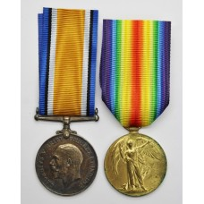 WW1 British War & Victory Medal Pair - Dvr. T.C. Lenanton, Royal Artillery