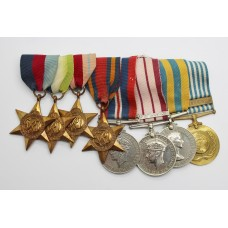 WW2, Naval General Service Medal (Clasp - S.E. Asia 1945-46) and Korea Medal Group of Eight - Acting Petty Officer H. Howarth, Royal Navy
