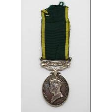 George VI Territorial Efficiency Medal - Gnr. K.A. Mascord, Royal