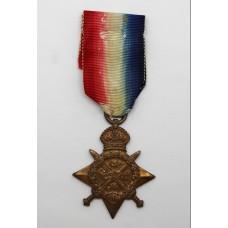WW1 1914 Mons Star - Pte. J.J. Terdre, 1/6th Bn. Devonshire Regiment - Died (Mesopotamia)