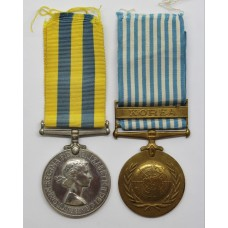 Queen's Korea & UN Korea Medal Pair - Pte. L. Dalby, Duke of Wellington's Regiment