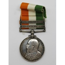 King's South Africa Medal (Clasps - South Africa 1901, South Africa 1902) - Pte. H. Povey, West Riding Regiment