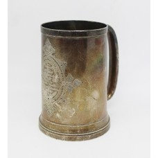 1st West Yorkshire Yeomanry Cavalry 1878 Hallmarked Silver Tankard for the Best Horse in 'D' Troop, 1st Prize, 1884