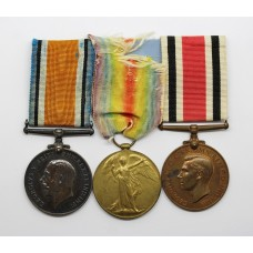 WW1 British War Medal, Victory Medal and Special Constabulary Long Service Medal Group - Gnr. A.E. Dinham, Royal Garrison Artillery