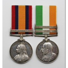 Queen's South Africa (Clasp - Cape Colony) and King's South Africa (Clasps - South Africa 1901, South Africa 1902) Medal Pair - Captain / Major R.R. Fielden, Loyal North Lancashire Regiment