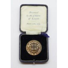 WW1 Bronze Commemorative Medallion - In Token of Lincoln's Gratitude 1914-1919
