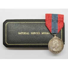 ERII Imperial Service Medal in Box of Issue - Harry Ernest Arthur Styles
