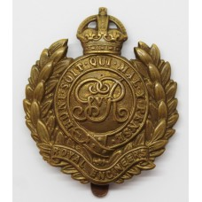 George V Royal Engineers Cap Badge (Non Voided Centre)