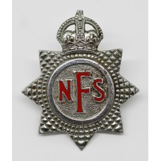 National Fire Service (N.F.S.) Cap Badge - King's Crown