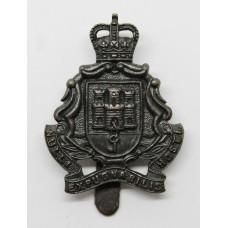 Gibraltar Regiment Officer's Service Dress Cap Badge - Queen's Crown