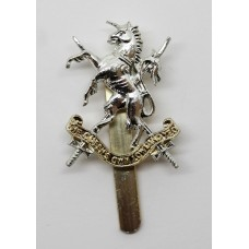 The Queen's Own Lowland Yeomanry Anodised (Staybrite) Cap Badge
